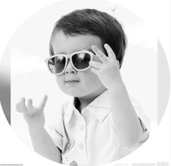 可爱眼镜小朋友头像